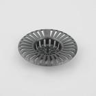 Фильтр для раковины, d=8 см, цвет серый
