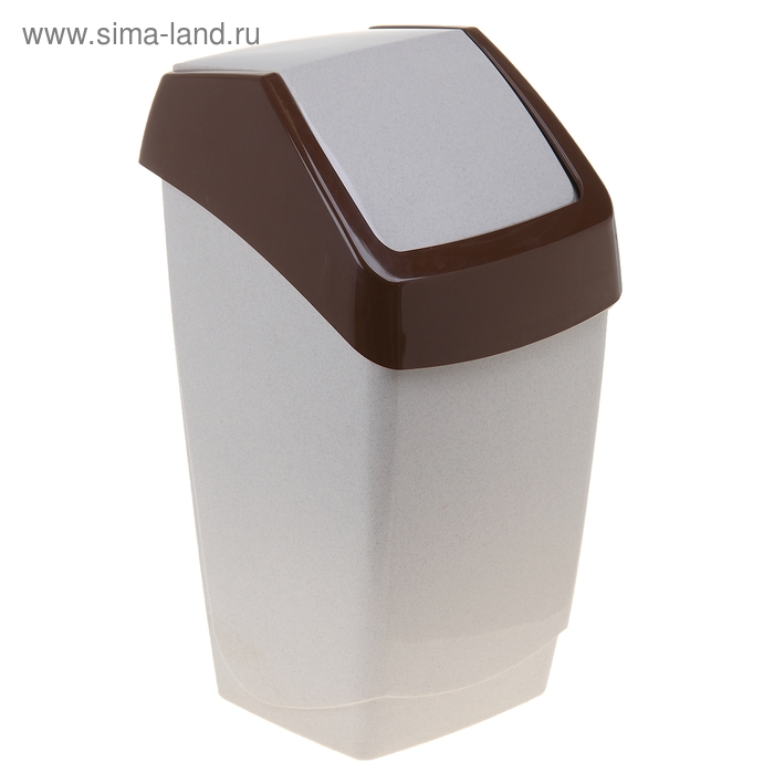 "Контейнер для мусора 25 л ""Хапс"", цвет бежевый мрамор"