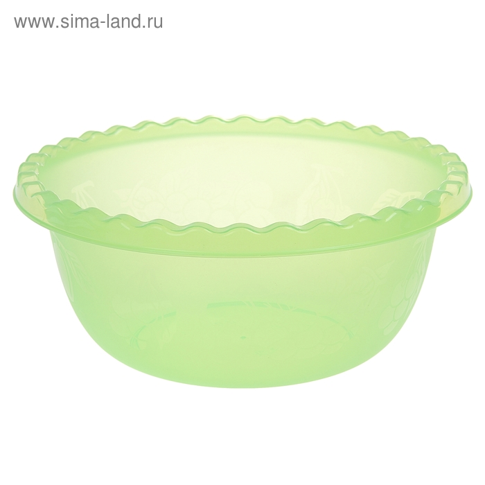 Миска 5 л круглая, цвет салатовый
