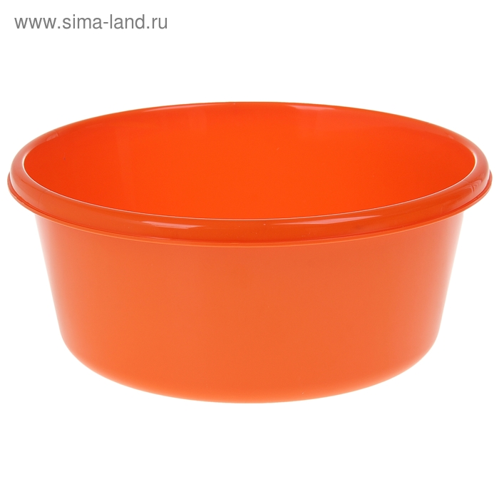 Таз 8 л, круглый, цвет оранжевый