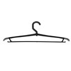 Вешалка-плечики размер 46-48 с поворачивающимся крючком, цвет чёрный