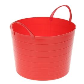 Корзина для белья мягкая IDEA, 17 л, 33×33×24,5 см, цвет красный