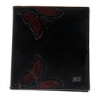 """Визитница двойная """"Бабочки"""" 18 листов, черный"""