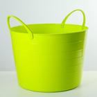 Корзина для белья, мягкая 17 л, цвет ярко-зеленый