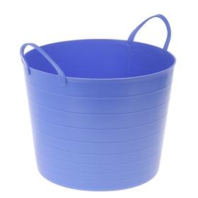 Корзина для белья круглая мягкая 27 л, 37,5×37,5×30 см, цвет сиреневый
