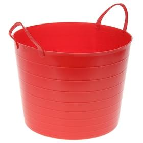 Корзина для белья круглая мягкая 27 л, 37,5×37,5×30 см, цвет красный