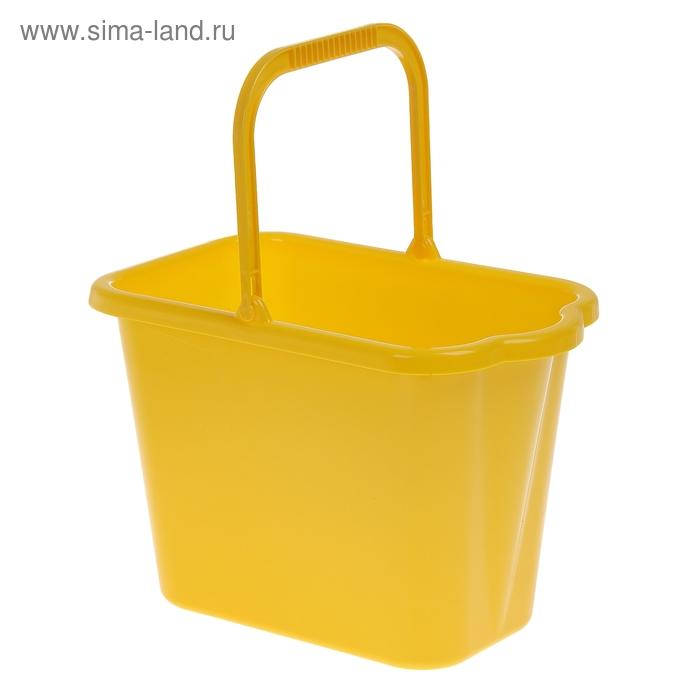 Ведро 9,5 л прямоугольное, цвет желтый
