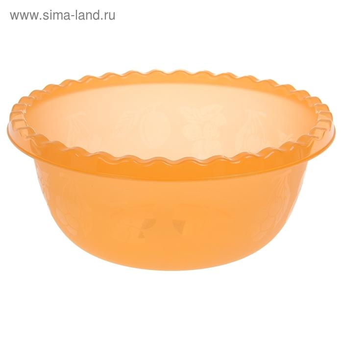Миска 5 л круглая, цвет оранжевый