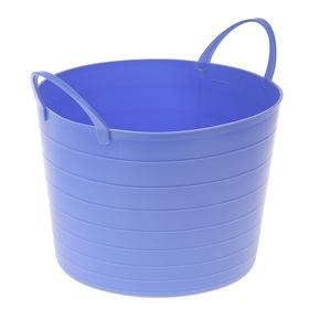 Корзина для белья круглая мягкая 17 л, 33×33×24,5 см, цвет сиреневый Ош