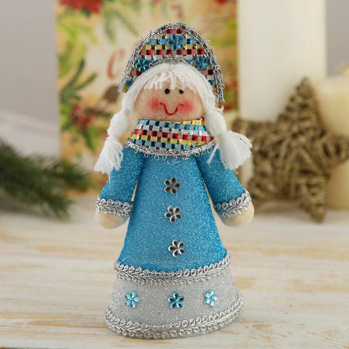 """Мягкая игрушка """"Снегурочка в бирюзовом платье"""""""