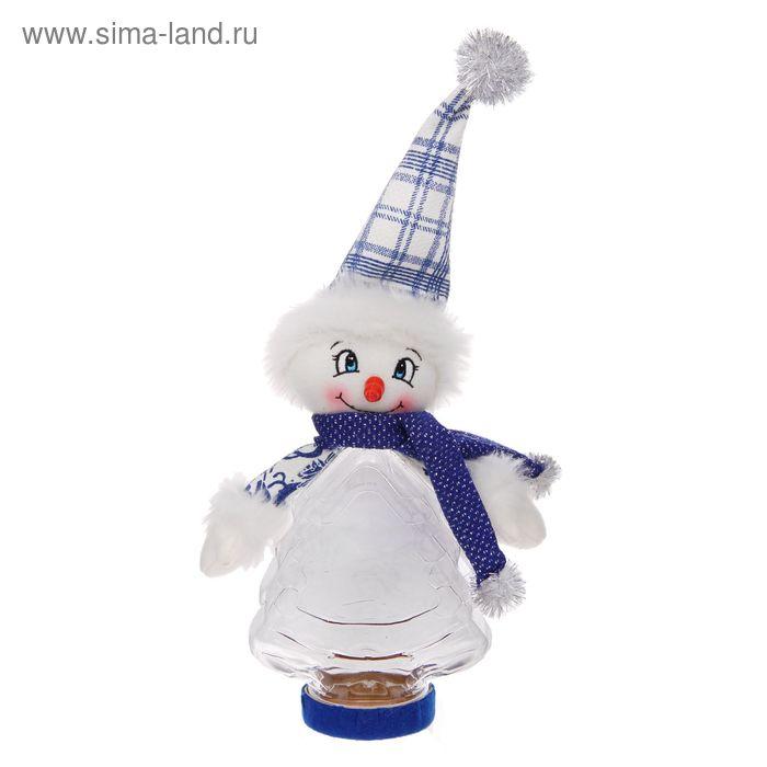 """Подарочная упаковка """"Снеговик"""", клетчатый колпак, 320 г"""