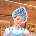 """Кокошник детский """"Красавица"""", окружность обода 35 см, высота 12 см"""