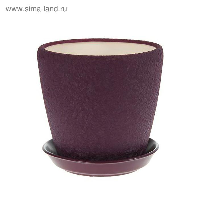 """Кашпо """"Грация"""" шёлк, фиолетовое, 1,2 л"""
