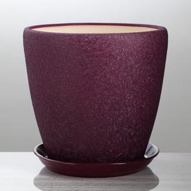 """Горшок для цветов """"Грация"""" шёлк, фиолетовый, 10 л"""
