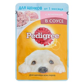 Влажный корм Pedigree для щенков, ягненок в соусе, пауч, 85 г Ош