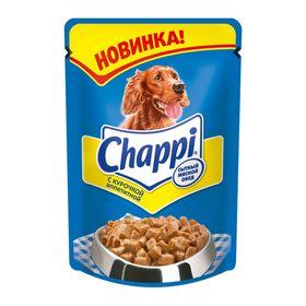 Влажный корм Chappi 'Аппетитная курочка' для собак, пауч, 100 г (комплект из 24 шт.)