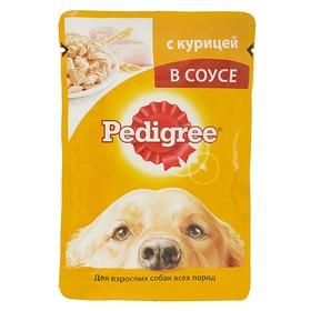 Влажный корм Pedigree для собак, курица в соусе, пауч, 85 г