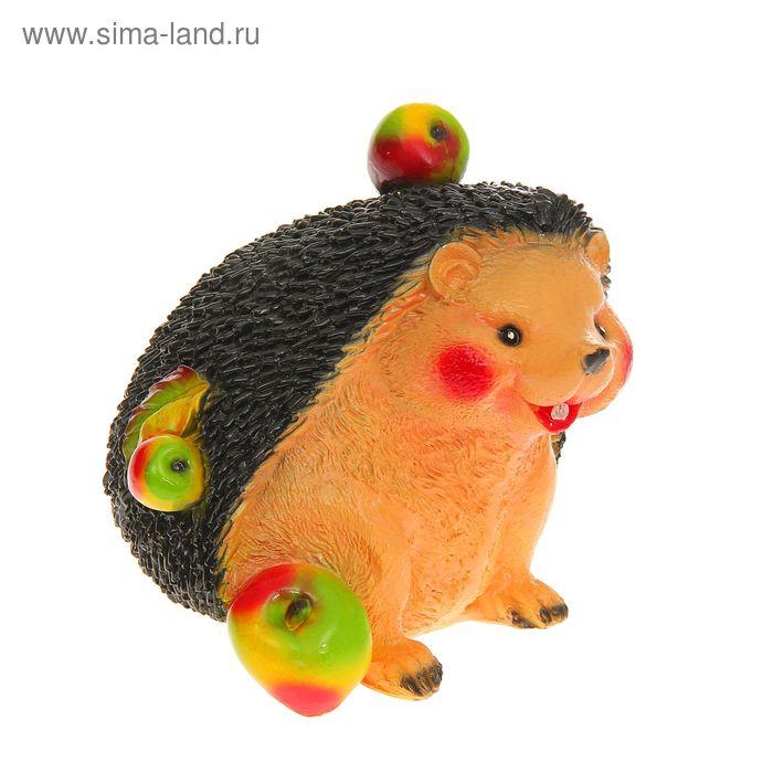 """Садовая фигура """"Ёж с яблоками"""""""