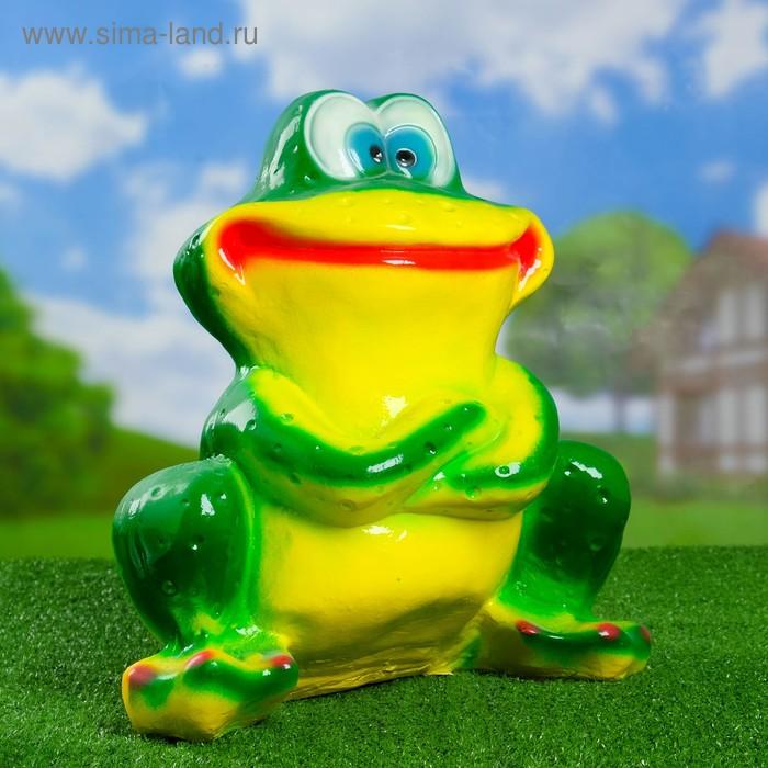"""Садовая фигура """"Сидящая лягушка"""" большая"""