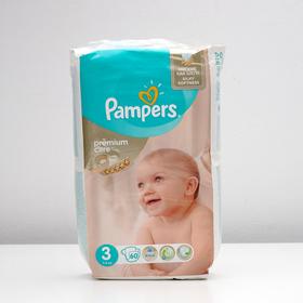 Подгузники Pampers Premium Care, Midi 3 (5-9 кг), 60 шт.