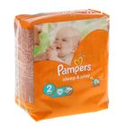 Подгузники «Pampers» Sleep&Play, Mini, 3-6 кг, 18 шт/уп
