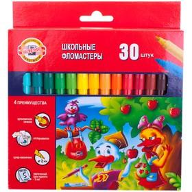 Фломастеры трехгранные 30 цветов 'Утята', европодвес Ош