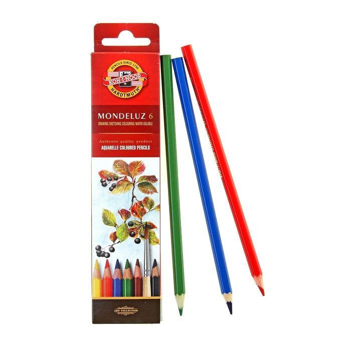 Карандаши художественные акварельные 6 цветов Mondeluz 3715
