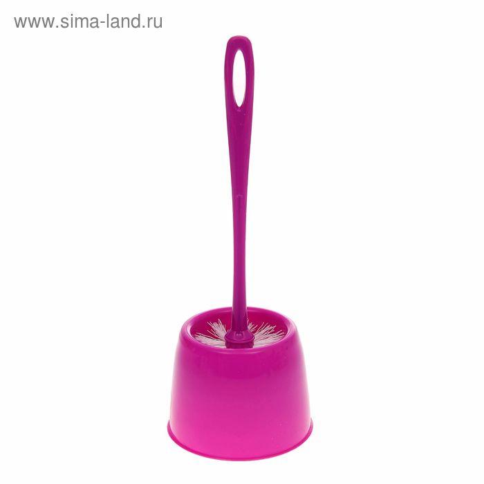"""Ерш для унитаза с подставкой """"Мини"""", цвет аметист"""