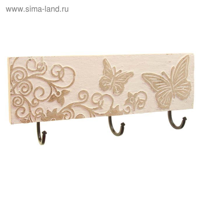 "Крючок ""Бабочки"" светлый"