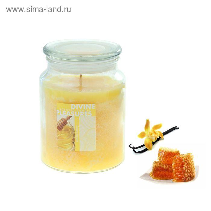 Свеча в банке Ваниль-мёд, 500 мл