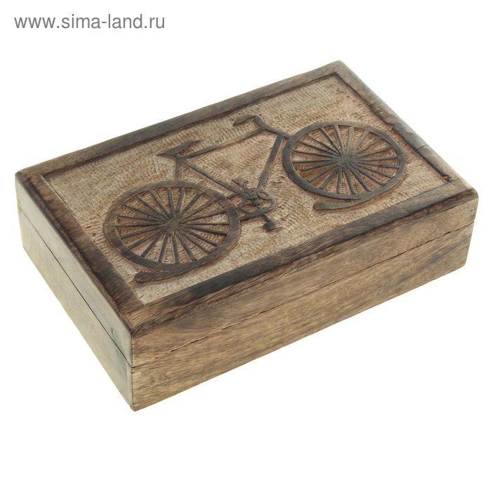 """Шкатулка """"Велосипед"""" прямоугольная"""