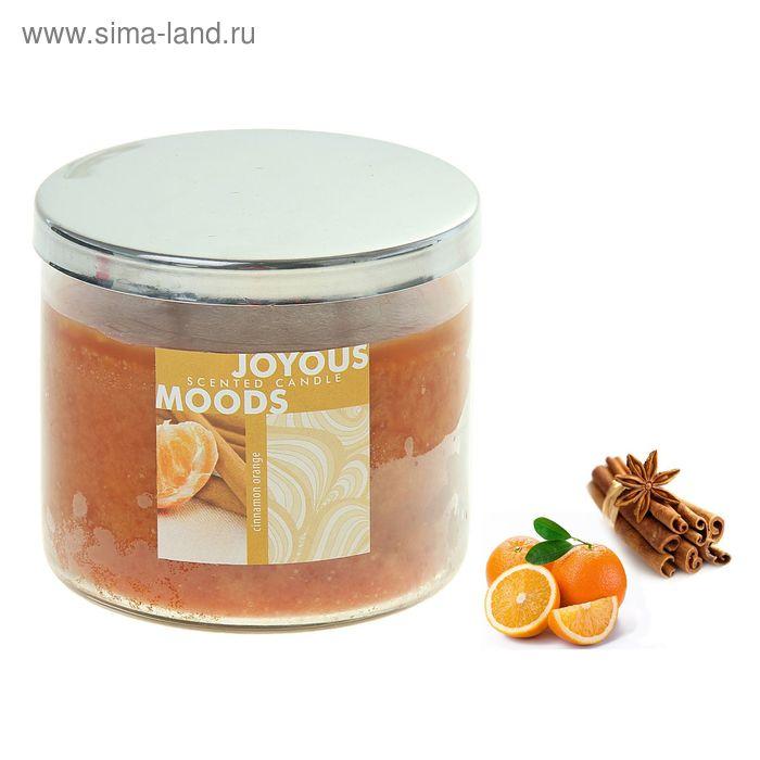 Свеча в банке Корица-апельсин, 390 мл