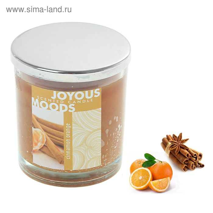 Свеча в банке Корица-апельсин, 112 мл