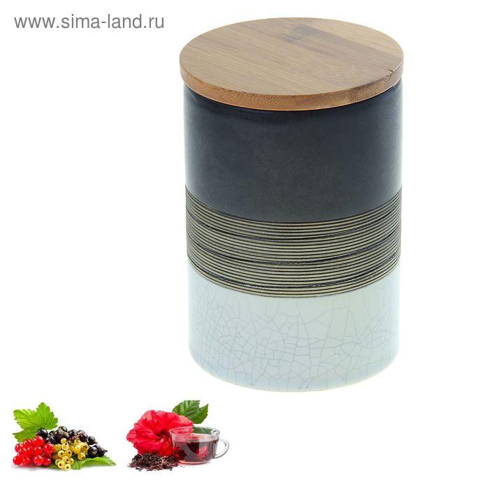 Свеча в керамической банке Красный чай-смородинай, 400 мл