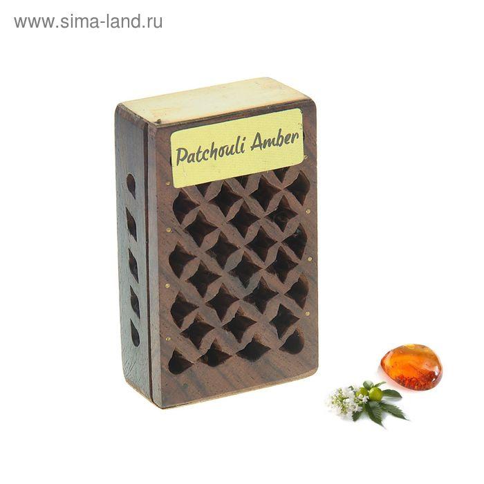Аромасаше янтарь в шкатулке Пачули - Амбер, 5 г. МИКС
