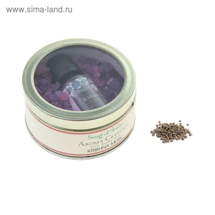 Аромакристаллы 70 гр с аромамаслом 10 мл в жестяной банке Мускус Кришны