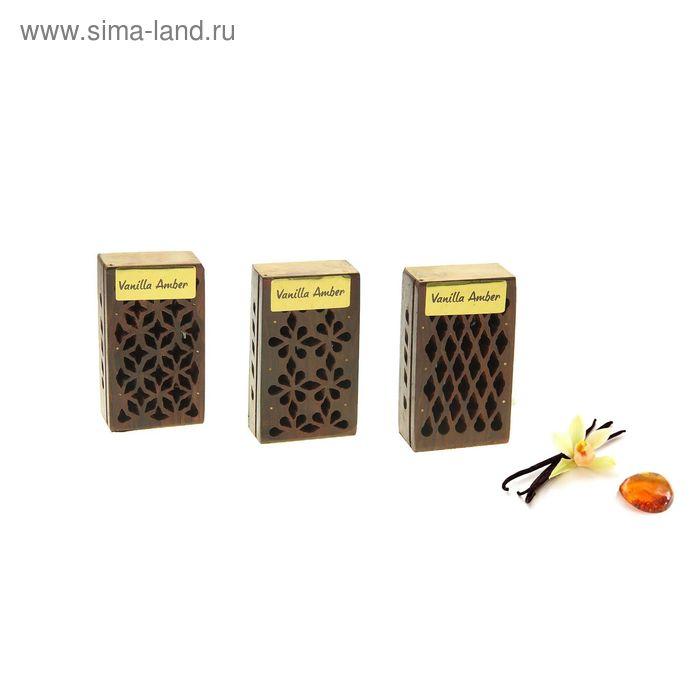 Аромасаше янтарь в шкатулке Ваниль-Амбер, 5 г. МИКС