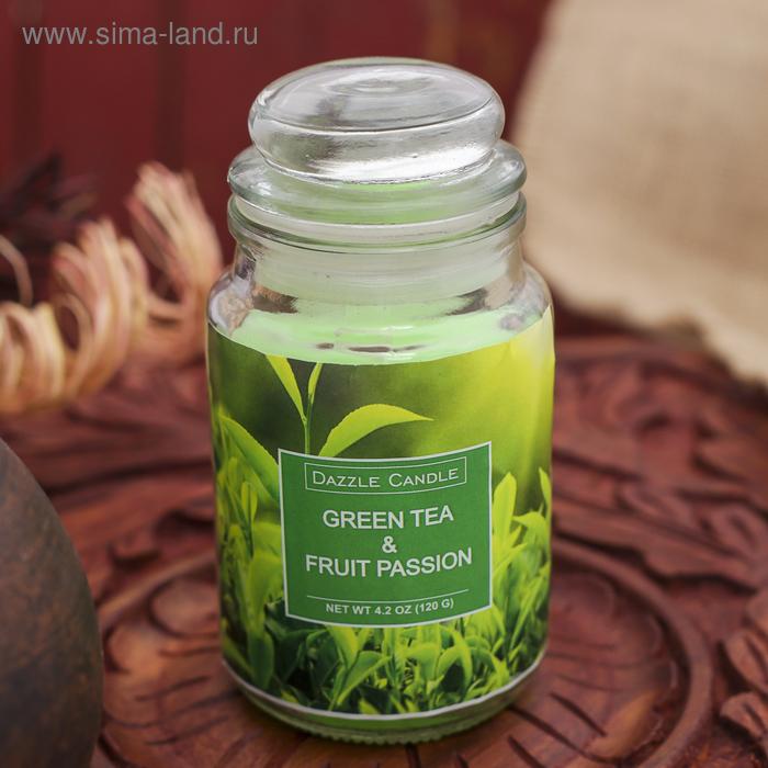 Свеча в банке Зелёный чай-маракуйя, 140 мл