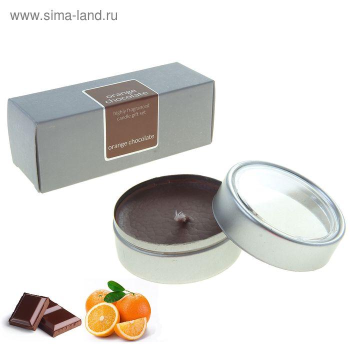 """Набор свечей SILVER """"Тулун"""" Апельсин-шоколад, 6х22 мл"""