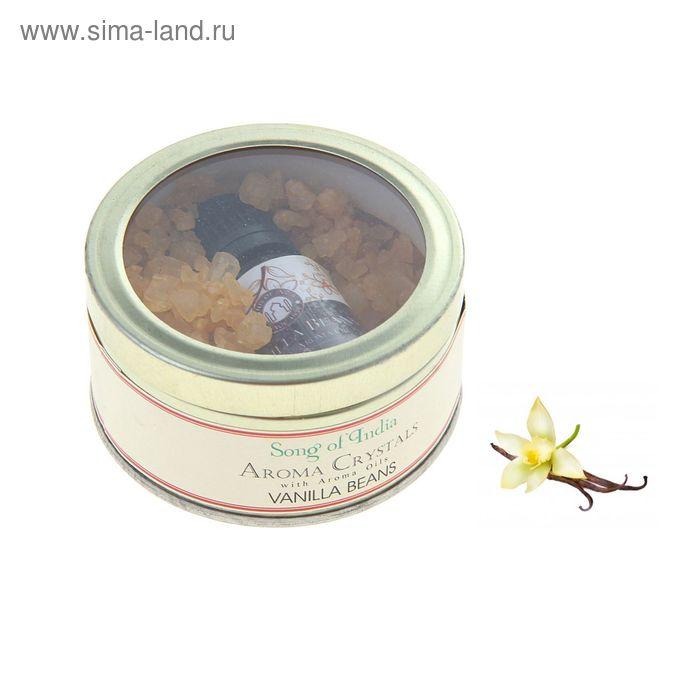 Аромакристаллы 70 гр с аромамаслом 10 мл в жестяной банке Ваниль