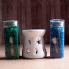"""Набор """"Ароматы Индии"""" (аромалампа, арома кристаллы, свечи, аромамасло) Наг Чампа и Камасутра"""