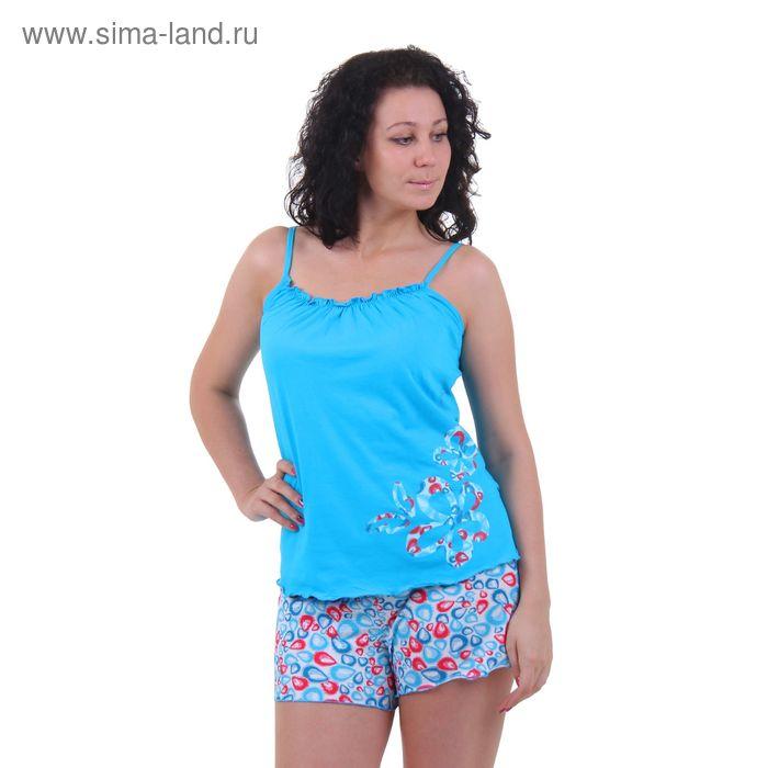 Пижама женская (топ, шорты) 5307 прохлада, р-р 46 (92-98)  рост 158,164