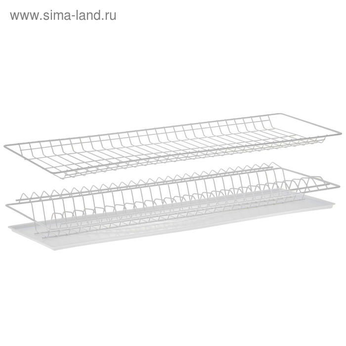 Комплект посудосушителей 76,5х25,6 см с поддоном, для шкафа 80 см, цвет белый