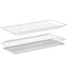 Комплект посудосушителей 56,5х25,6 см с поддоном, для шкафа 60 см, цвет белый