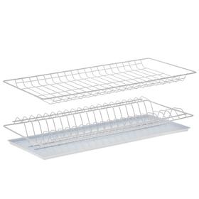 Комплект посудосушителей с поддоном для шкафа 60 см, 56,5×25,6 см, цвет белый