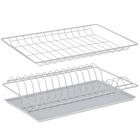 Комплект посудосушителей 36,5х25,6 см с поддоном для шкафа 40 см, цвет белый