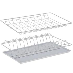 Комплект посудосушителей с поддоном для шкафа 40 см, 36,5×25,6 см, цвет белый