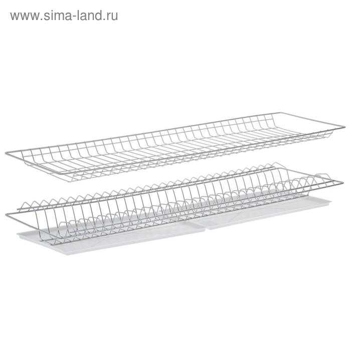 Комплект посудосушителей 86,5х25,6 см с поддоном, для шкафа 90 см, хром