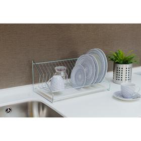 Сушилка для посуды «Мини», 39×25×15 см, цинк