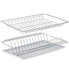 Комплект посудосушителей 36,5х25,6 см с поддоном для шкафа 40 см, цинк